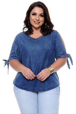 Blusa Bata Jeans Plus Size Delouize