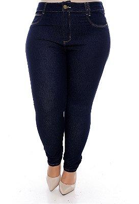 Calça Cigarrete Jeans Plus Size Aryete