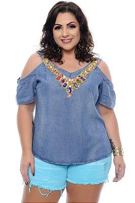 Blusa Jeans Plus Size Ruvvia