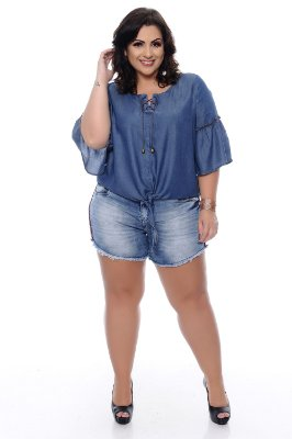 Shorts Jeans Plus Size Carmeci
