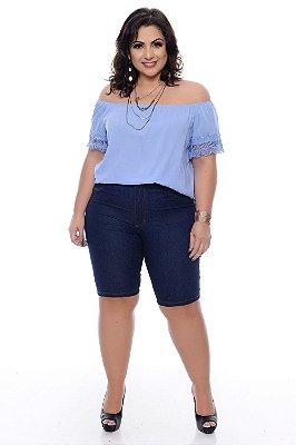 Bermuda Ciclista Jeans Plus Size Kaoane