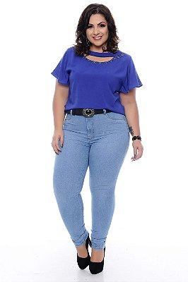 Calça Skinny Jeans Plus Size Cleny