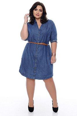 a3e1ddd19 Vestido Chemise Jeans Plus Size Talyce