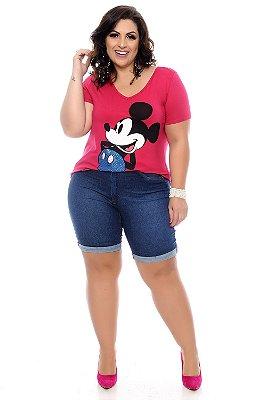 Blusa Plus Size Pedraria Pink