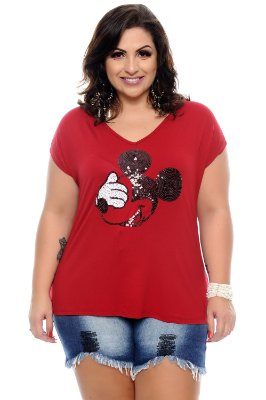 Blusa Plus Size Hands Red