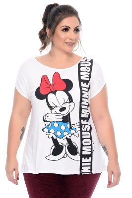 Blusa Plus Size Minnie Poa