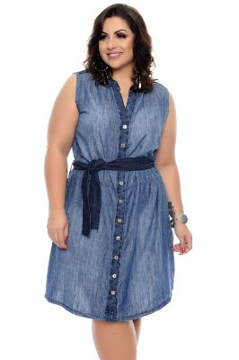 Vestido Jeans Plus Size Zarone