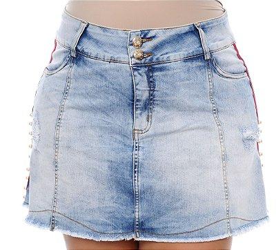 Saia Jeans Plus Size Natli