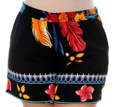 Shorts Crepe Plus Size Wilka