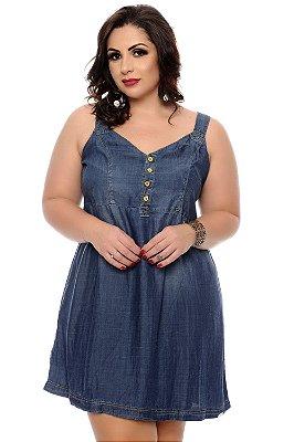 Vestido Jeans Plus Size Ceyma