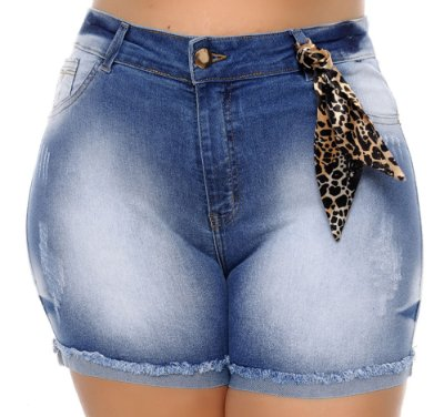 Shorts Jeans Plus Size Hiath
