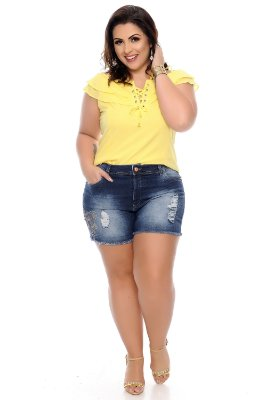 Shorts Jeans Plus Size Sinarah
