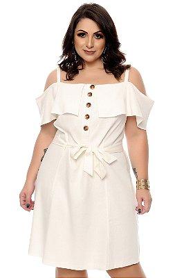Vestido Linho Plus Size Bellyni