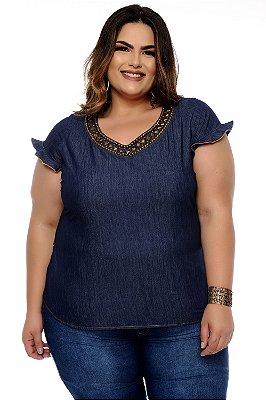 Blusa Jeans Plus Size Mattia