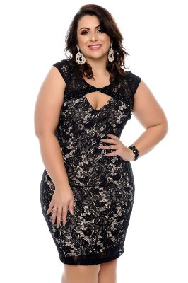 Vestido Plus Size Leatti