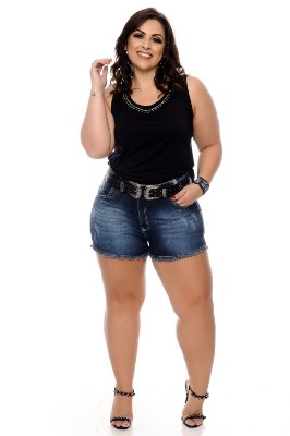 Shorts Jeans Plus Size Ediany