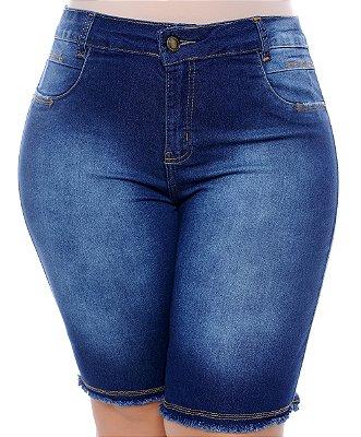 Bermuda Ciclista Jeans Plus Size Jhoyna