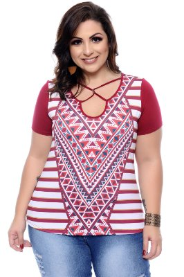 Blusa Plus Size Melange
