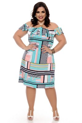 9b404e023 Vestidos Ciganinha - Daluz Plus Size