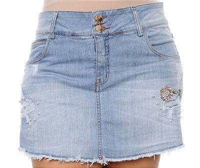 Shorts Saia Jeans Plus Size Davoli