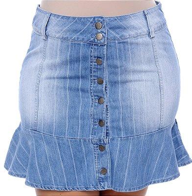 Saia Jeans Plus Size Vantine