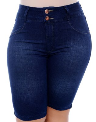Bermuda Ciclista Jeans Plus Size Neyd