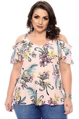Blusa Plus Size Kethuen