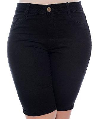 Bermuda Ciclista Jeans Plus Size Symaia