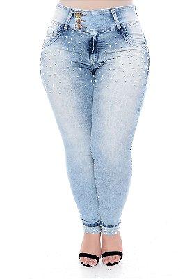 Calça Skinny Jeans Plus Size Mariet
