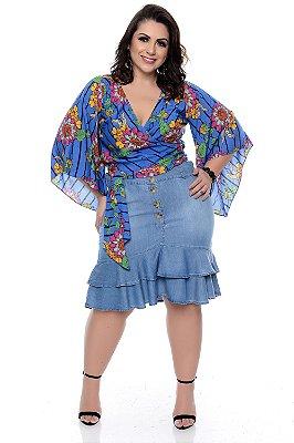 Saia Jeans Plus Size Sheila