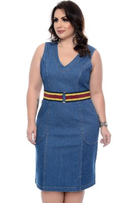 Vestido Jeans Plus Size Moriah