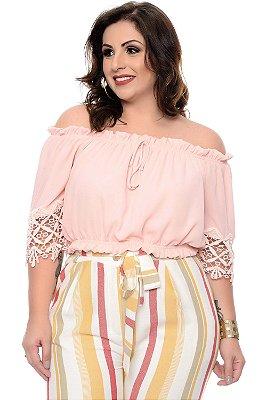 Blusa Croped Plus Size Dalice