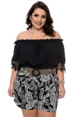 Blusa Croped Plus Size Hinda