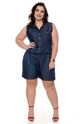 b8f1f2703 Macaquinho Jeans Plus Size Ohye