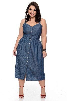 Vestido Jeans Plus Size Liange