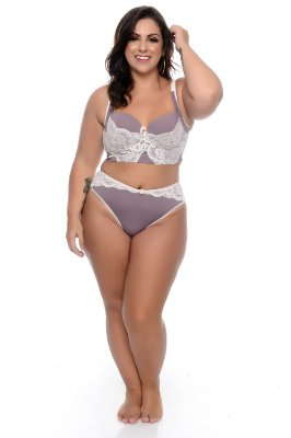Conjunto Lingerie Plus Size Flavie