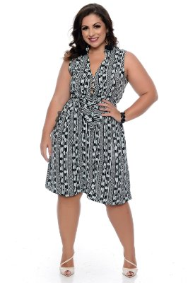 Vestido Chemise Plus Size Tiele