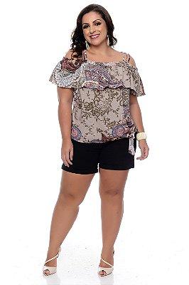 Blusa Ciganinha Plus Size Zelis