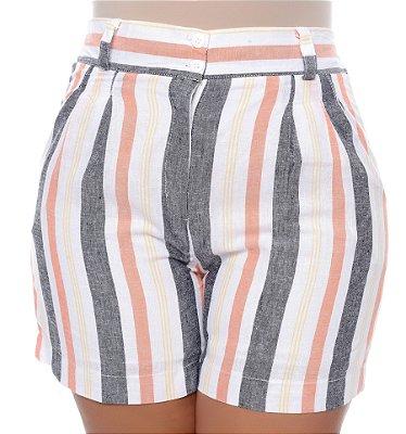 Shorts de Linho Plus Size Soyla