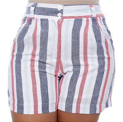 Shorts de Linho Plus Size Dielle