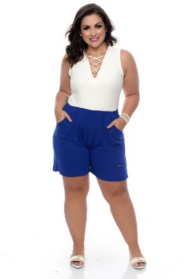 Shorts Plus Size Com Elástico Andressa
