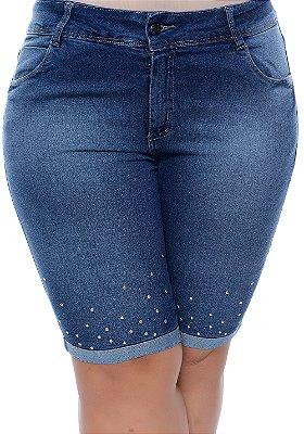 Bermuda Ciclista Jeans Plus Size Suren