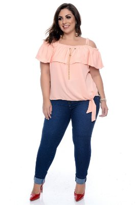 Blusa Ciganinha Plus Size Sintia