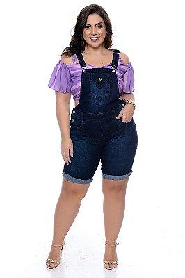 Jardineira Jeans Plus Size Tyene