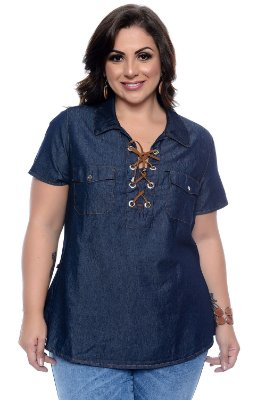 Camisete Jeans Plus Size Katniss
