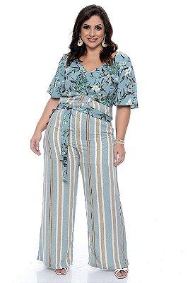 Calça Pantalona Plus Size Kerla