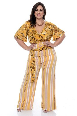 Blusa Cropped Plus Size Helia