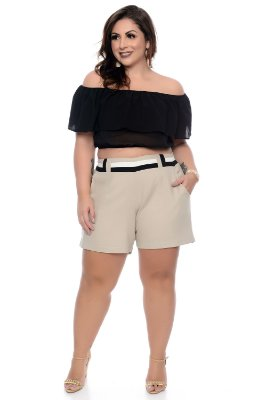 Blusa Cropped Plus Size Lilya
