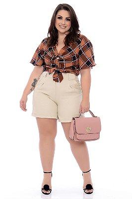 Blusa Cropped Plus Size Lariana