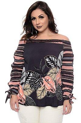 Blusa Ciganinha Plus Size Pyetra